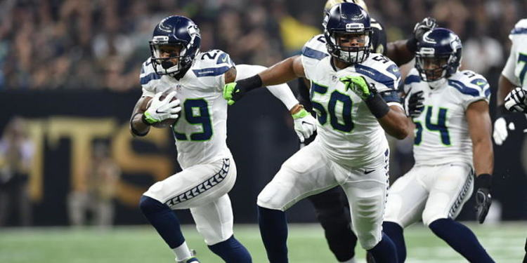 Seattle Seahawks players in action