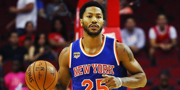 Derrick Rose of the Knicks