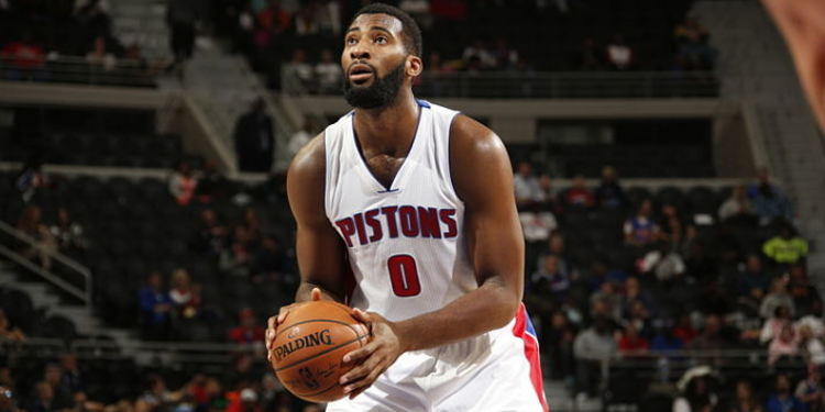 Basketball player Andre Drummond in action