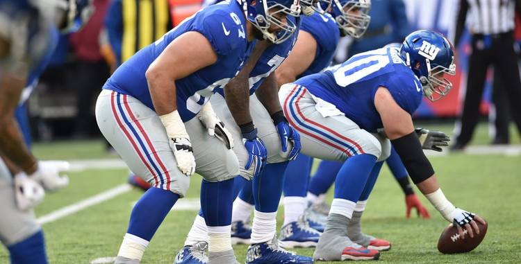 N.Y. Giants players getting ready for action