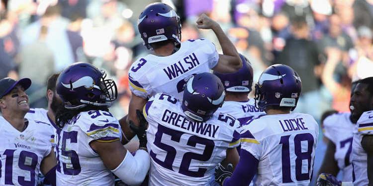 Minnesota Vikings players celebrating