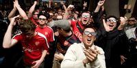 Premier League Fans Celebrating