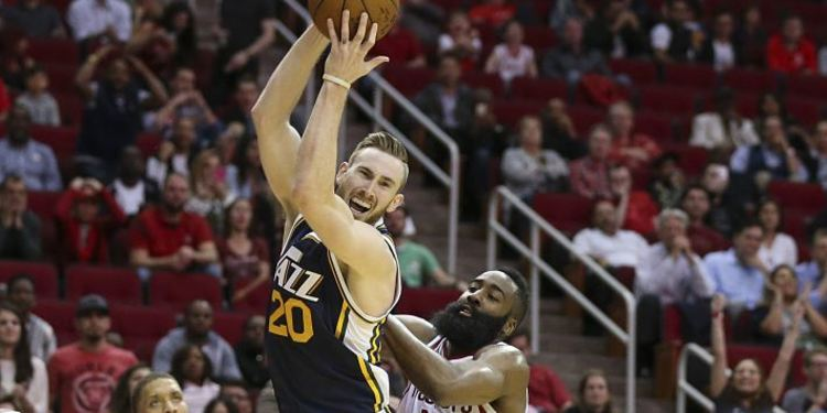 Utah Jazz & Houton Rockets player in Action
