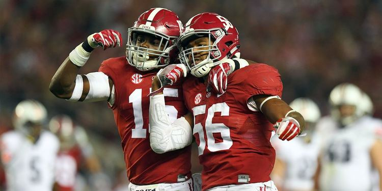 Alabama Crimson Tide players celebrating