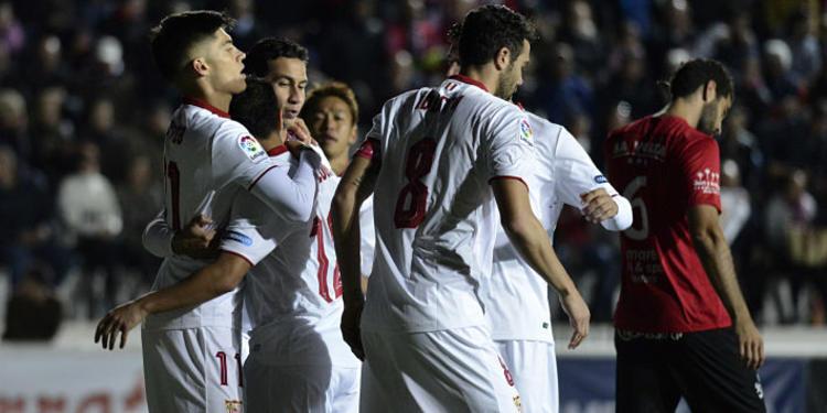 Sevilla FC players celebrating