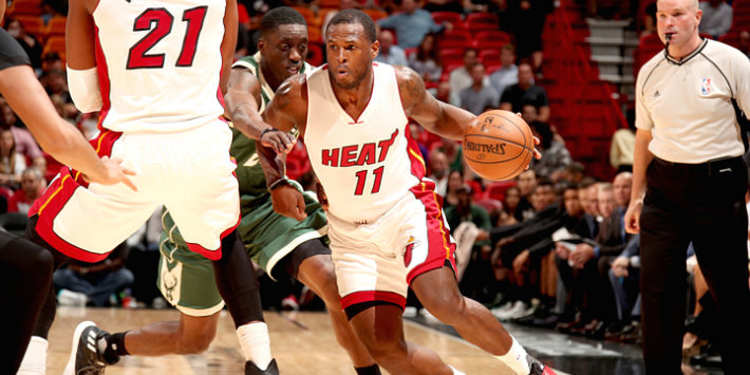 Miami Heat players in action