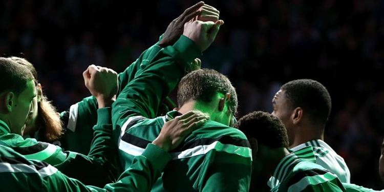 Boston Celtics Huddled Up