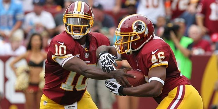 Washington Redskins  players in action