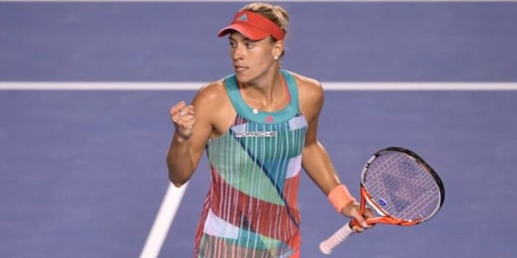Angelique Kerber celebrating