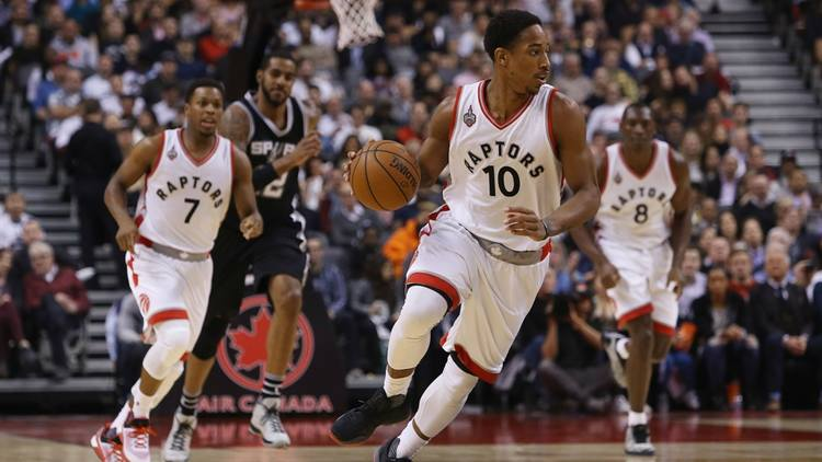 demar derozan raptors basketball