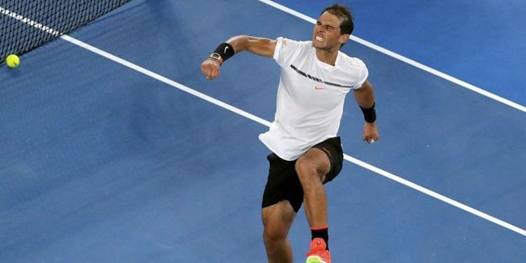 Rafael Nadal Jumps In Celebration