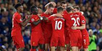 Liverpool players gathered around