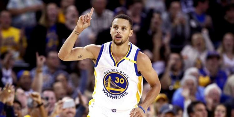 Steph Curry Pointing Finger Up
