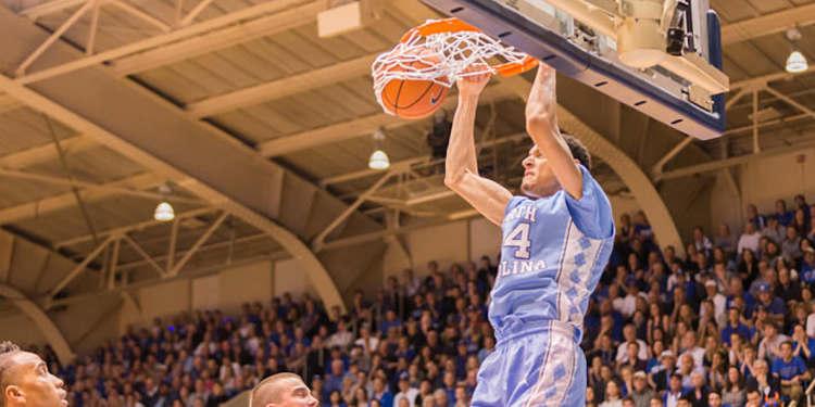 North Carolina Tar Heels player in action