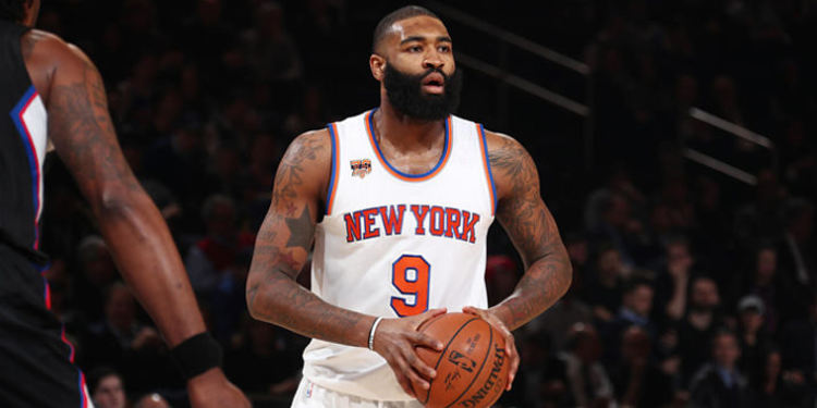 New York Knicks  player in action