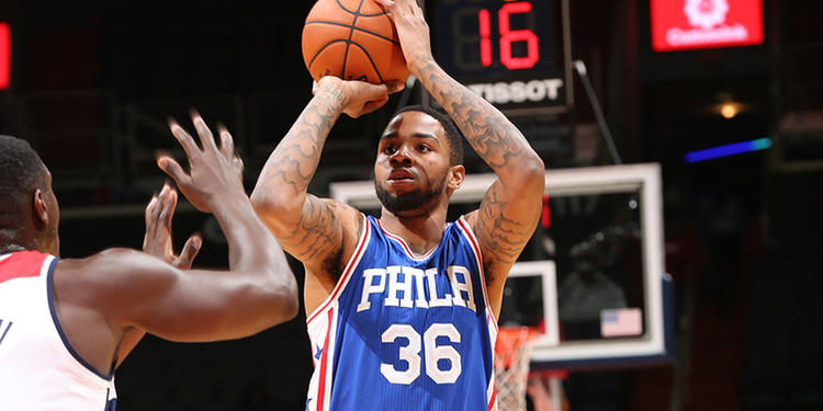 Philadelphia 76ers player in action