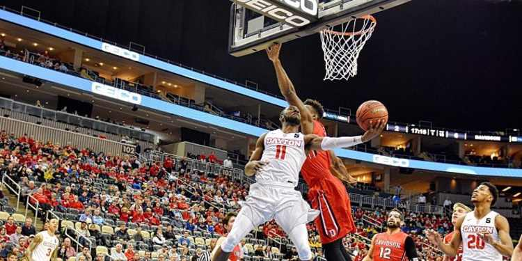 Dayton Flyers player in action