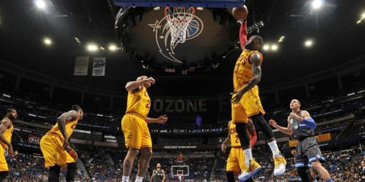 Cleveland Cavaliers team in action