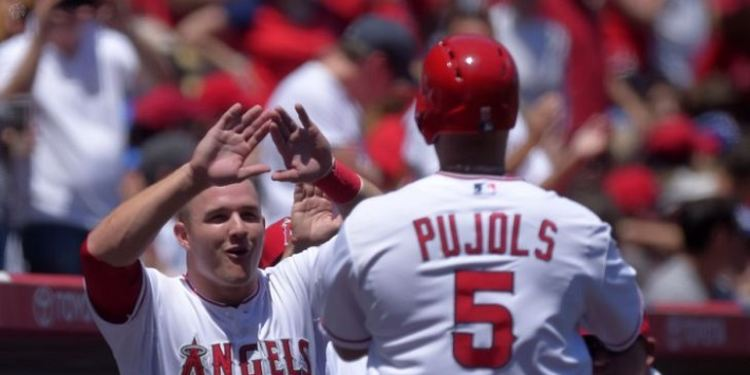 Mike Trout of the Angels