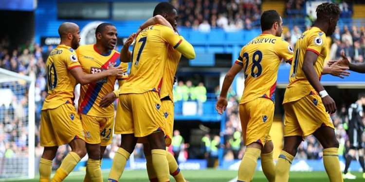 Crystal Palace players celebrating