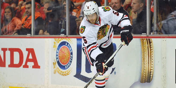 Chicago Blackhawks player in action