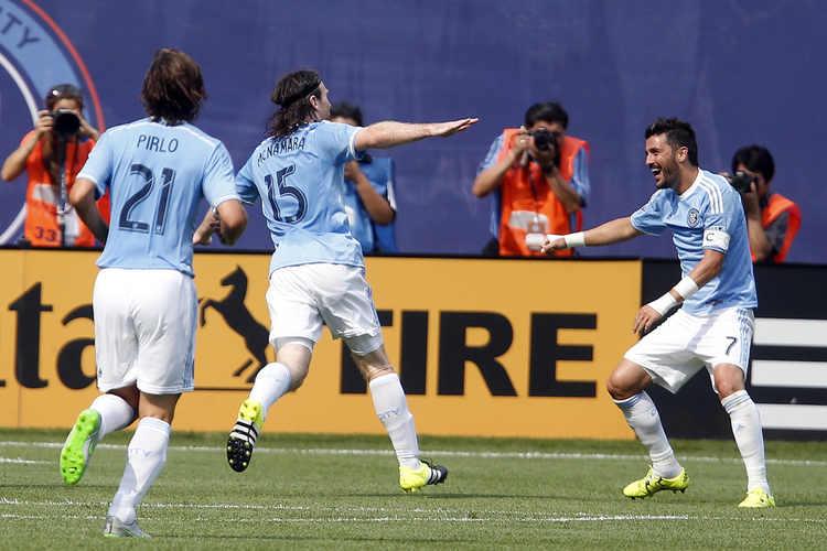 New York City FC players celebrating