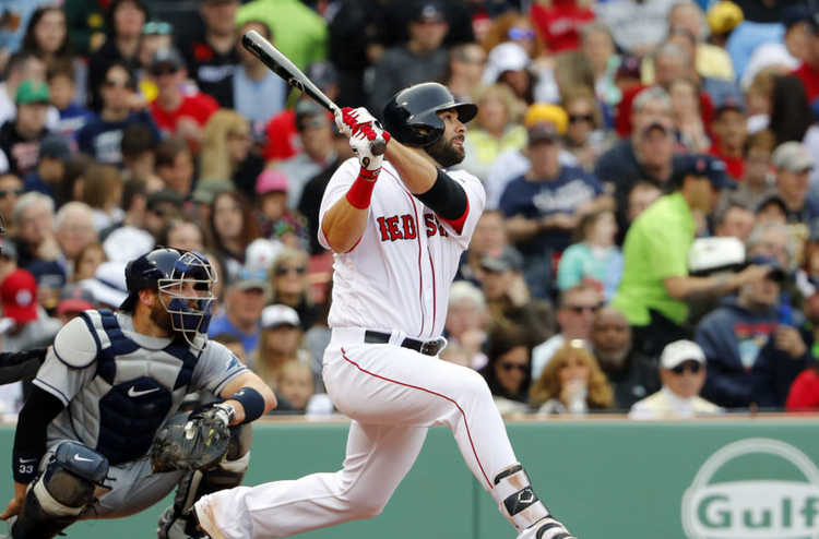 Boston Red Sox batter in action
