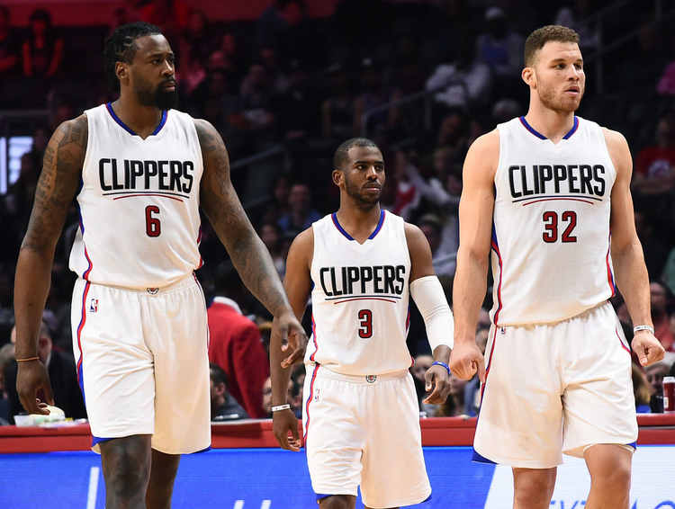 LA Clippers players in court