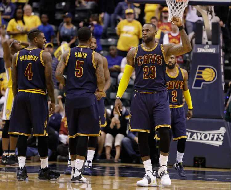 Cleveland Cavaliers players in court