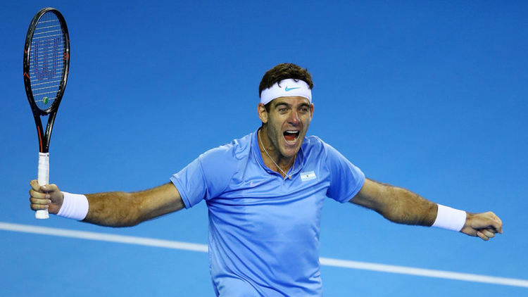 Tennis player Juan Martin Del Potro in action