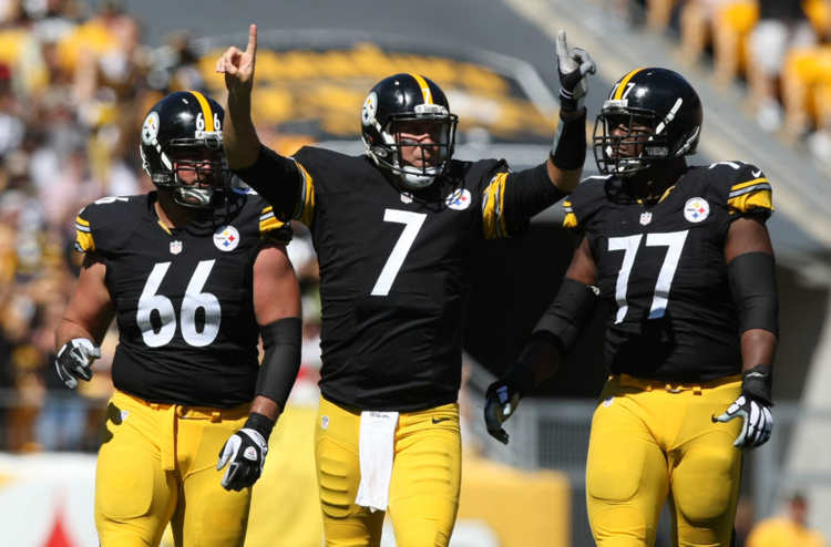 Ben Roethlisberger celebrating