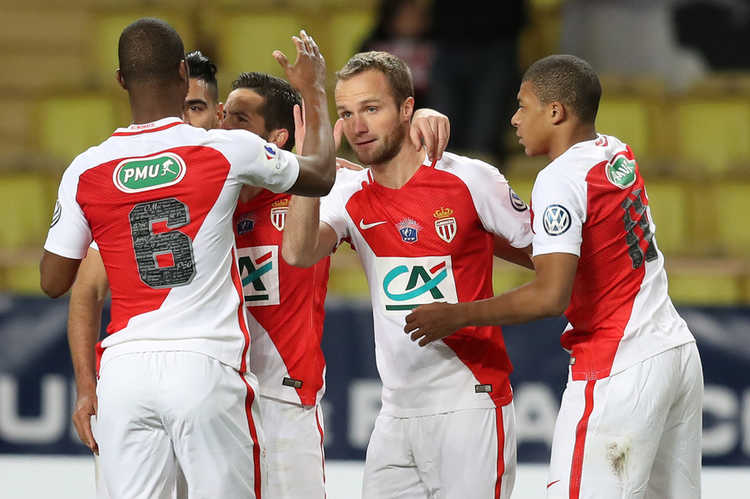 AS Monaco players celebrating