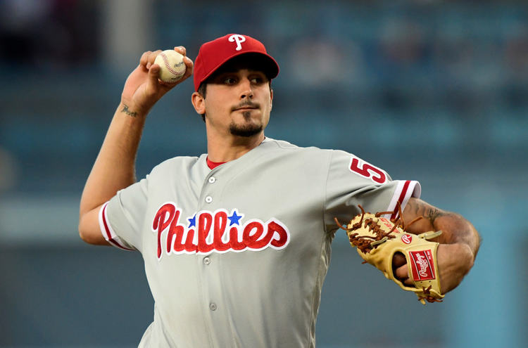 Phillies pitcher Zach Eflin in action