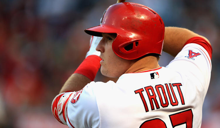 Angels pitcher Mike Trout