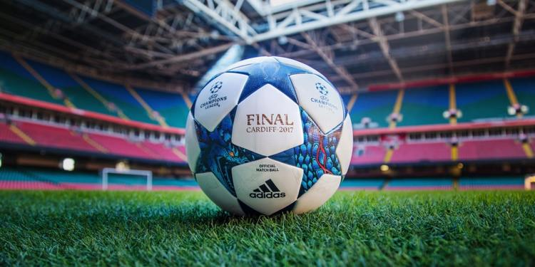 Champions League final ball in field