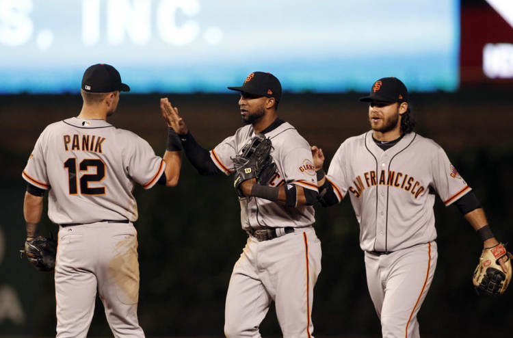 San Francisco Giants players celebration