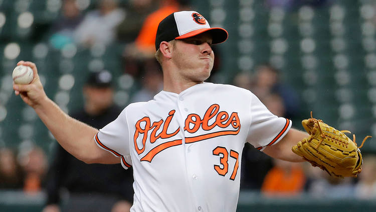 Orioles pitcher Dylan Bundy in action