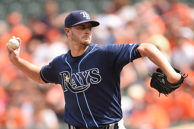 Rays pitcher Jake Odorizzi in action