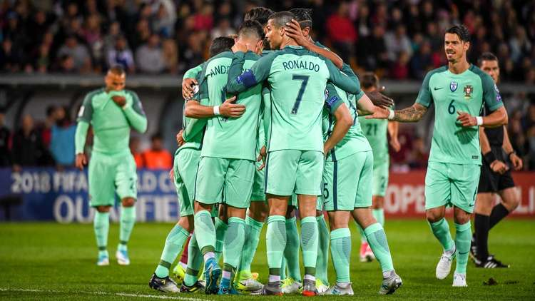 Portugal team celebrating