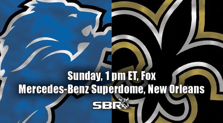 nfl week 6 lions saints