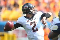 Oklahoma State QB Mason Rudolph in action