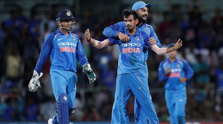 India cricket players celebrating