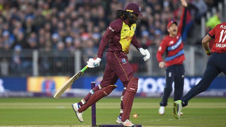 West Indies batsman in action