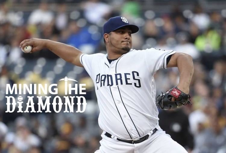 Padres pitcher Jhoulys Chacín in action
