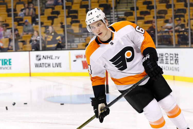 Philadelphia Flyers player in action