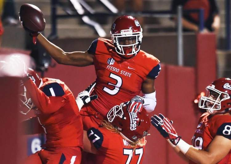 Fresno State Bulldogs players in action