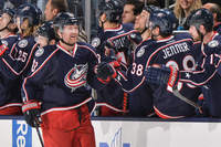 Columbus Blue Jackets   players in bench