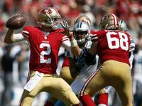 San Francisco 49ers players in action