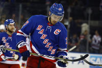 N.Y. Rangers player on ice