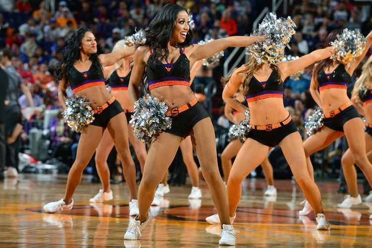 Phoenix Suns cheerleaders in action